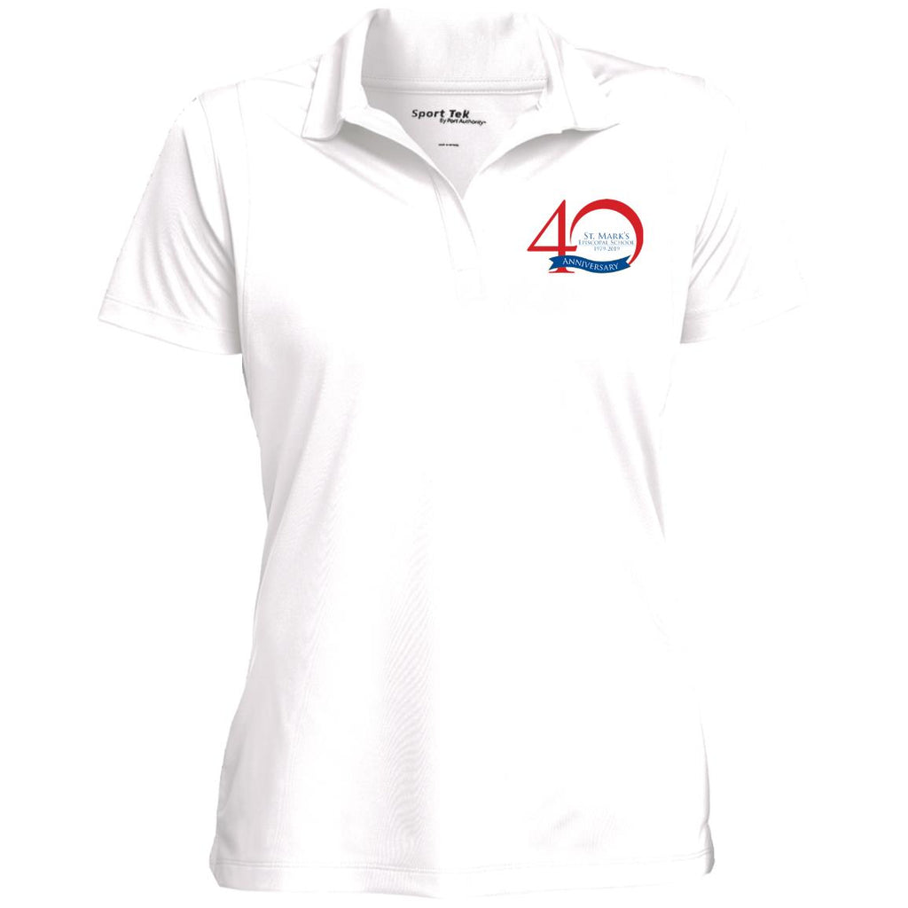 Staff 40th Anniversary Ladies Micropique  Flat-Knit Collar Wicking Polo
