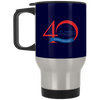 40th Anniversary 3, Silver Stainless Travel Mug
