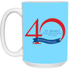 40th Anniversary 3, 15 oz. Mug