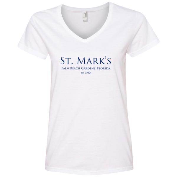 Ladies' V-Neck Tee - T-Shirts - 1