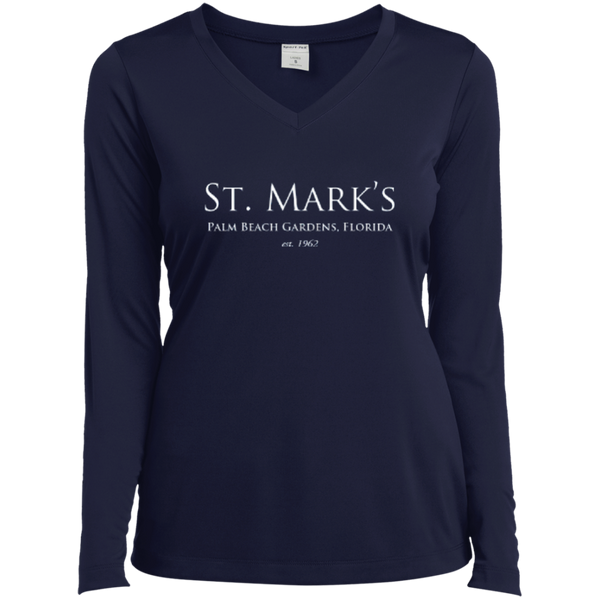 Ladies Long Sleeve Performance Vneck Tee - T-Shirts