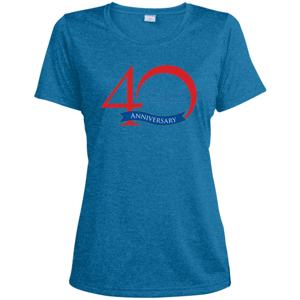 40th Anniversary 5, Ladies' Heather Dri-Fit Moisture-Wicking T-Shirt