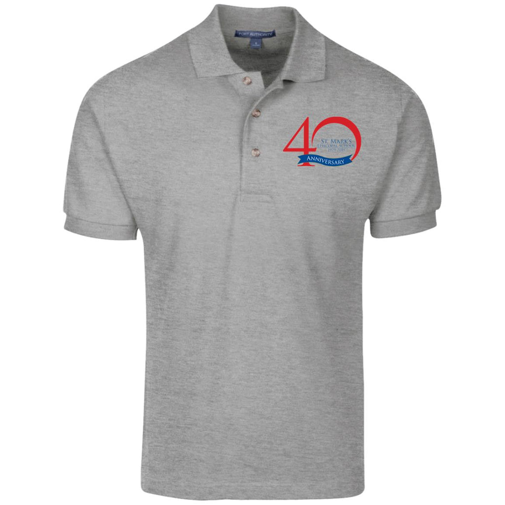 Staff 40th Anniversary Port Authority Cotton Pique Knit Polo