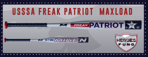 "2016 Miken Freak Patriot 14"" Maxload USSSA 2-Piece Bat"