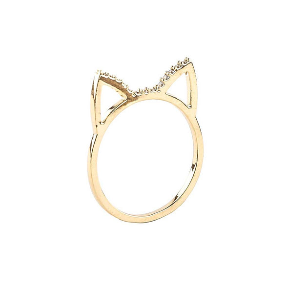 Crystal Cat Ring at Experimental Jewellery Club