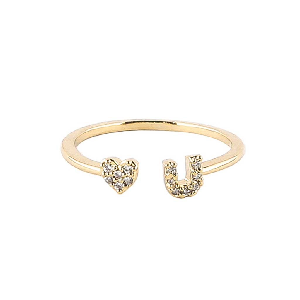 I Heart U Friendship Ring | Experimental Jewellery Club