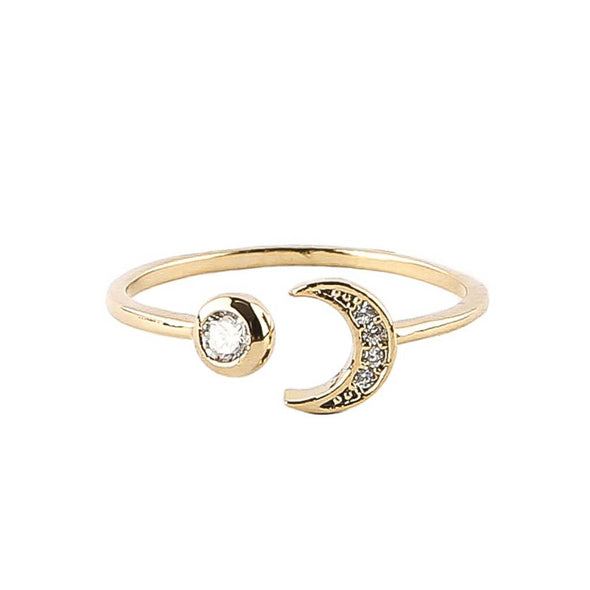 Sun and Moon Friendship Ring at Experimental Jewellery Club