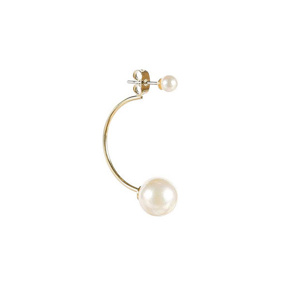 Double Pearl Barbell Earrings at Experimental Jewellery Club