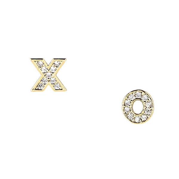 Pave XO Earrings at Experimental Jewellery Club