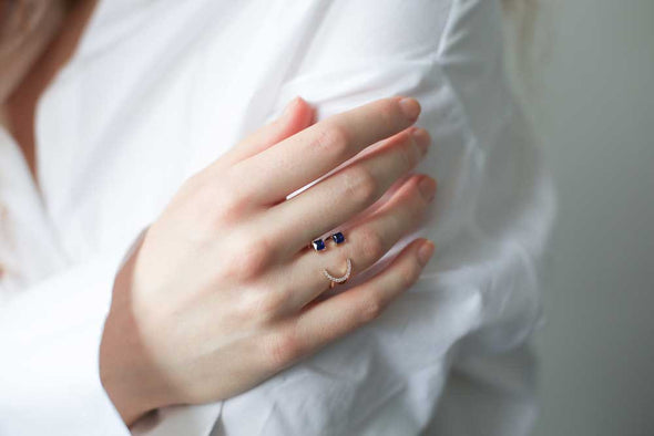 Classic Emoji Ring in Blue at Experimental Jewellery Club @experimentaljewelleryclub