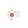 Evil Eye Ring in Pink at Experimental Jewellery Club