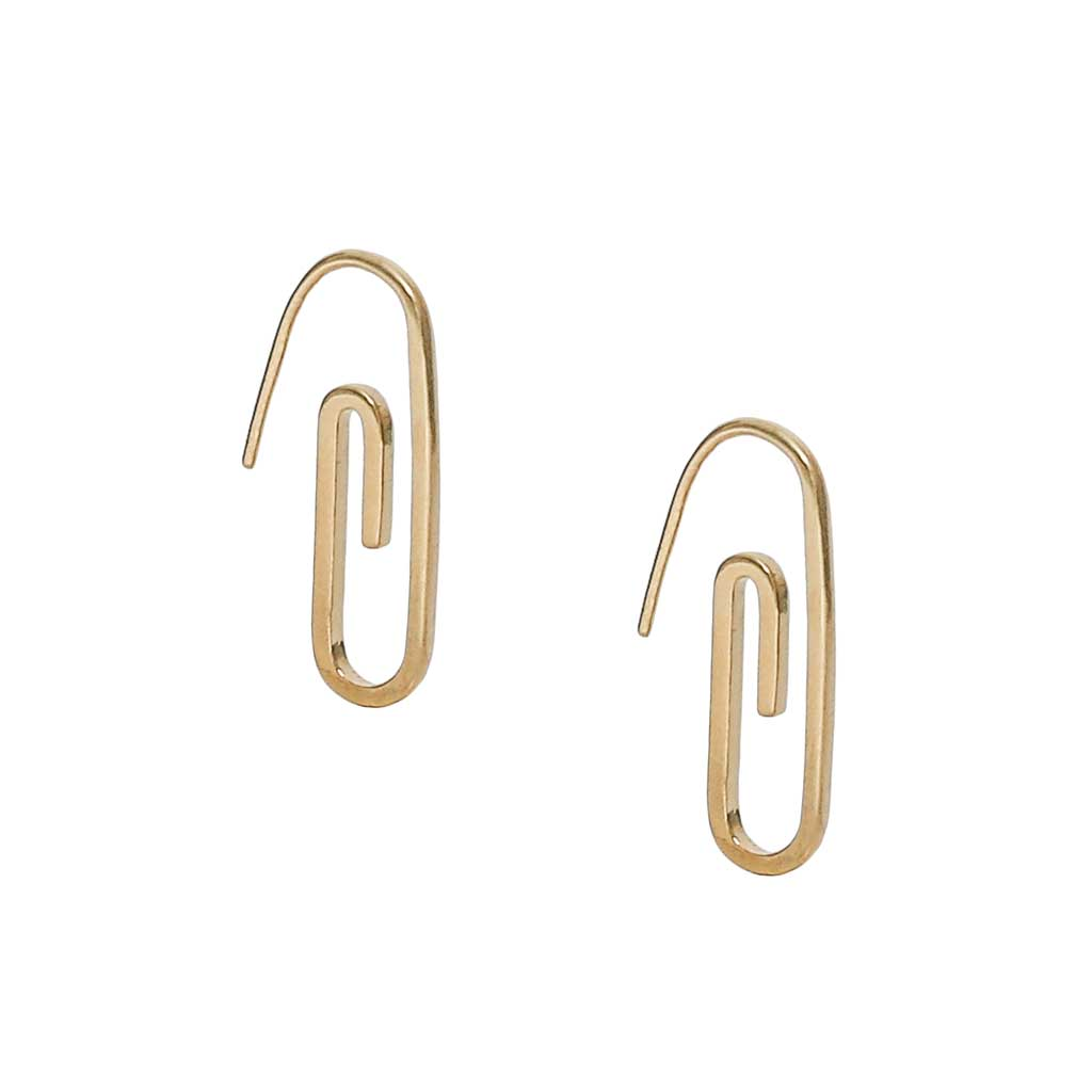 Paperclip Earrings at Experimental Jewellery Club