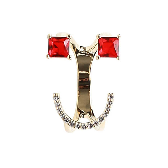 Classic Emoji Ring in Red at Experimental Jewellery Club @experimentaljewelleryclub