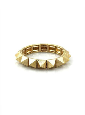 Gold Pyramid Stud Bracelet at Experimental Jewellery Club