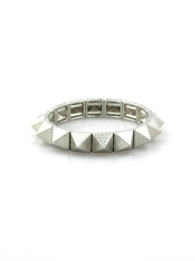 Silver Pyramid Stud Bracelet at Experimental Jewellery Club
