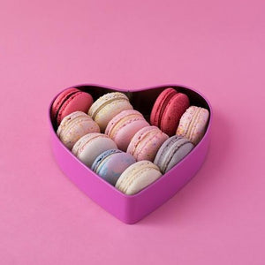 Mother's Day Heart Macaron Box of 12