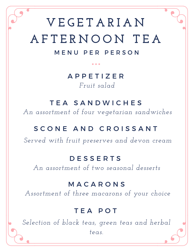 Afternoon Tea - Monday to Friday service