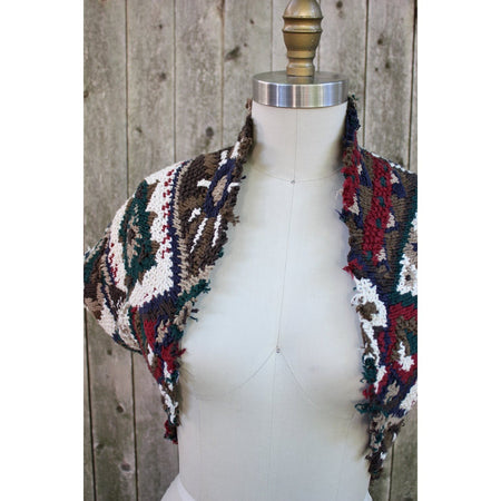 Artisan Jacket made from Scarves and Sweaters