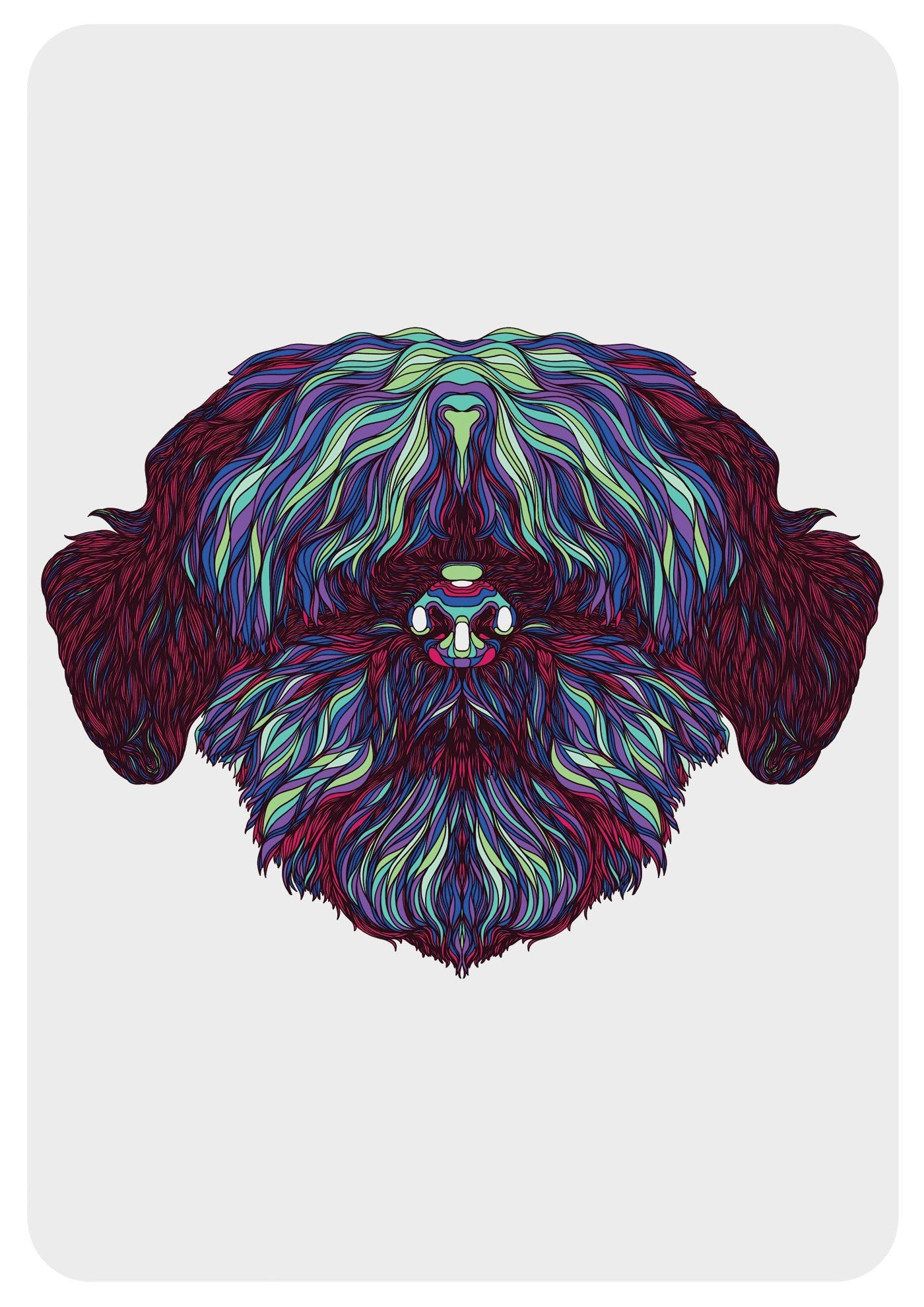 Shih tzu wall art