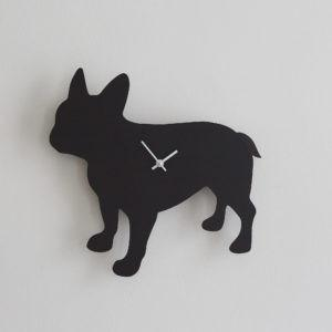 French Bulldog wagging clock