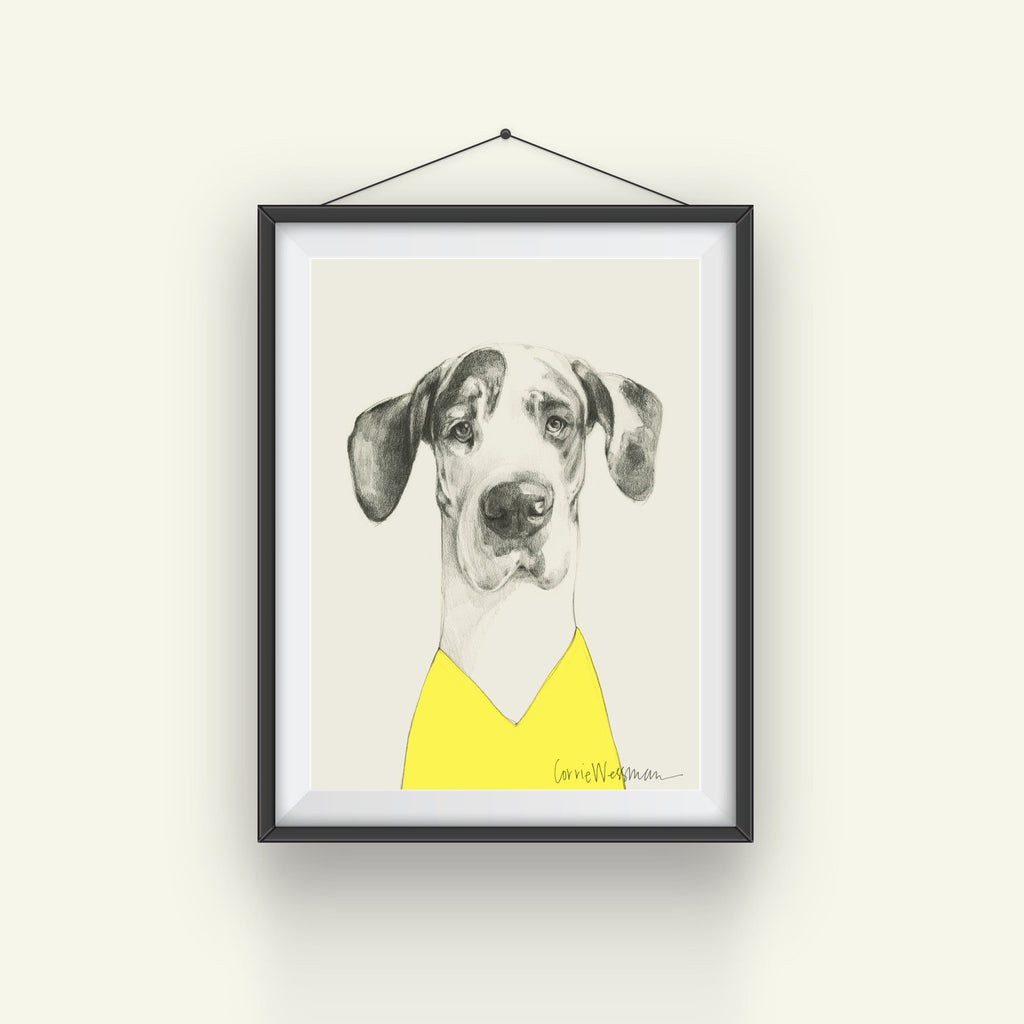 Great Dane Art // in a V Neck top