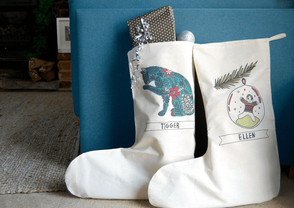 Personalised Cat Christmas Stocking
