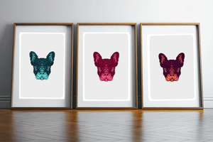 Print Trio French Bulldog Wall Art