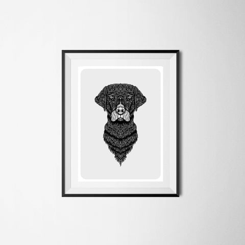 Labrador Art - Black and White