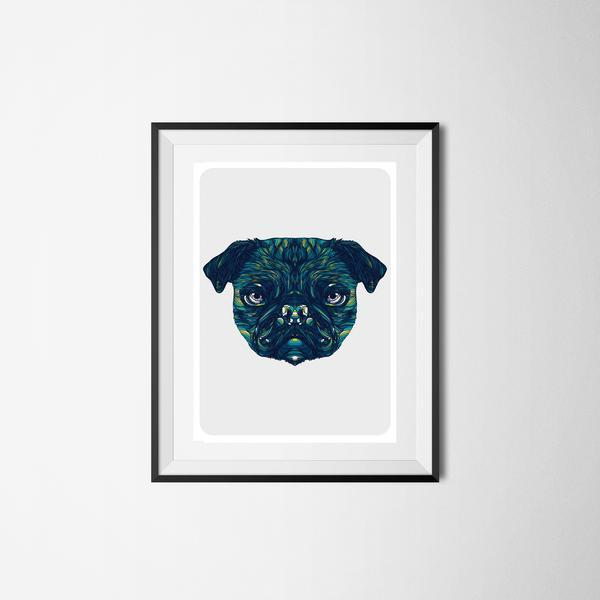 Pug Framed Art