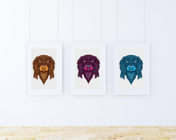 Print Trio Cocker Spaniel Wall Art