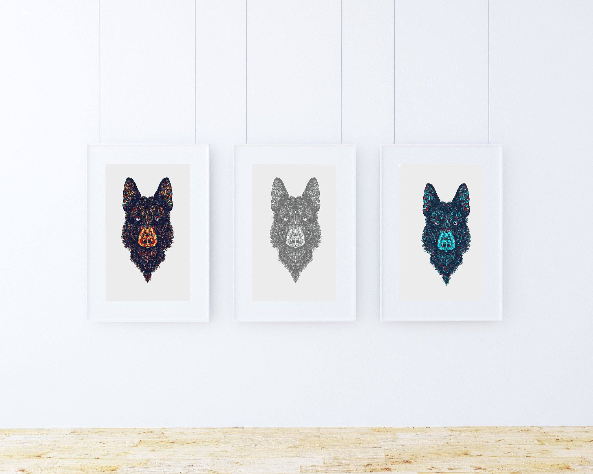 German Shepherd Art