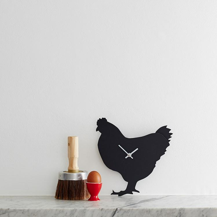 Chicken wagging clock