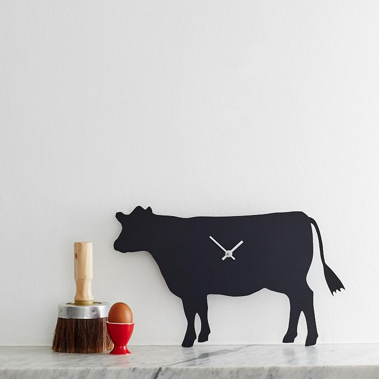 Cow wagging clock