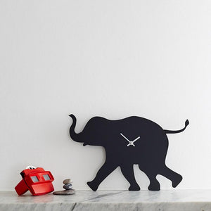 Elephant wagging clock
