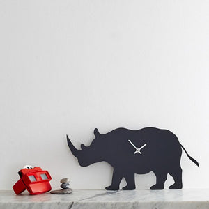 Rhino wagging clock