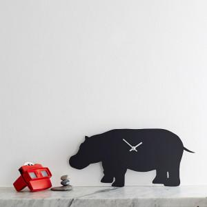 Hippo wagging clock