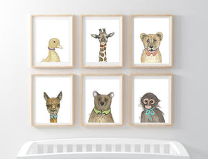 Nursery baby Animal Art