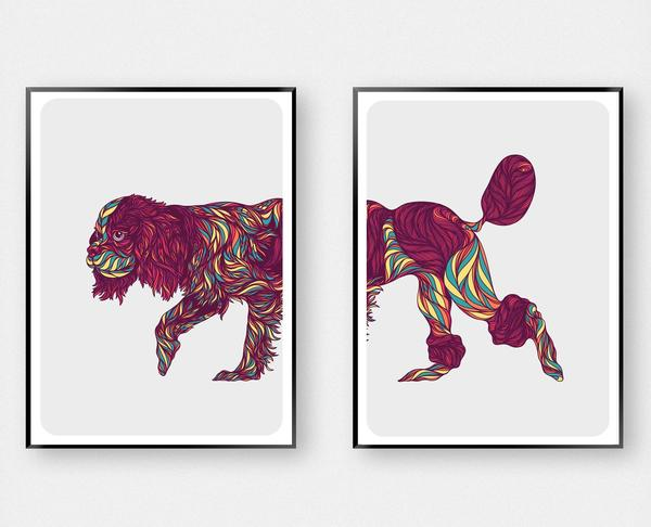 Cavapoo dog Art