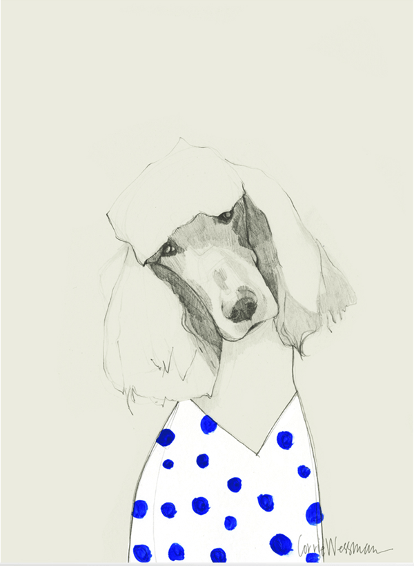 Poodle Art // in Polka dots
