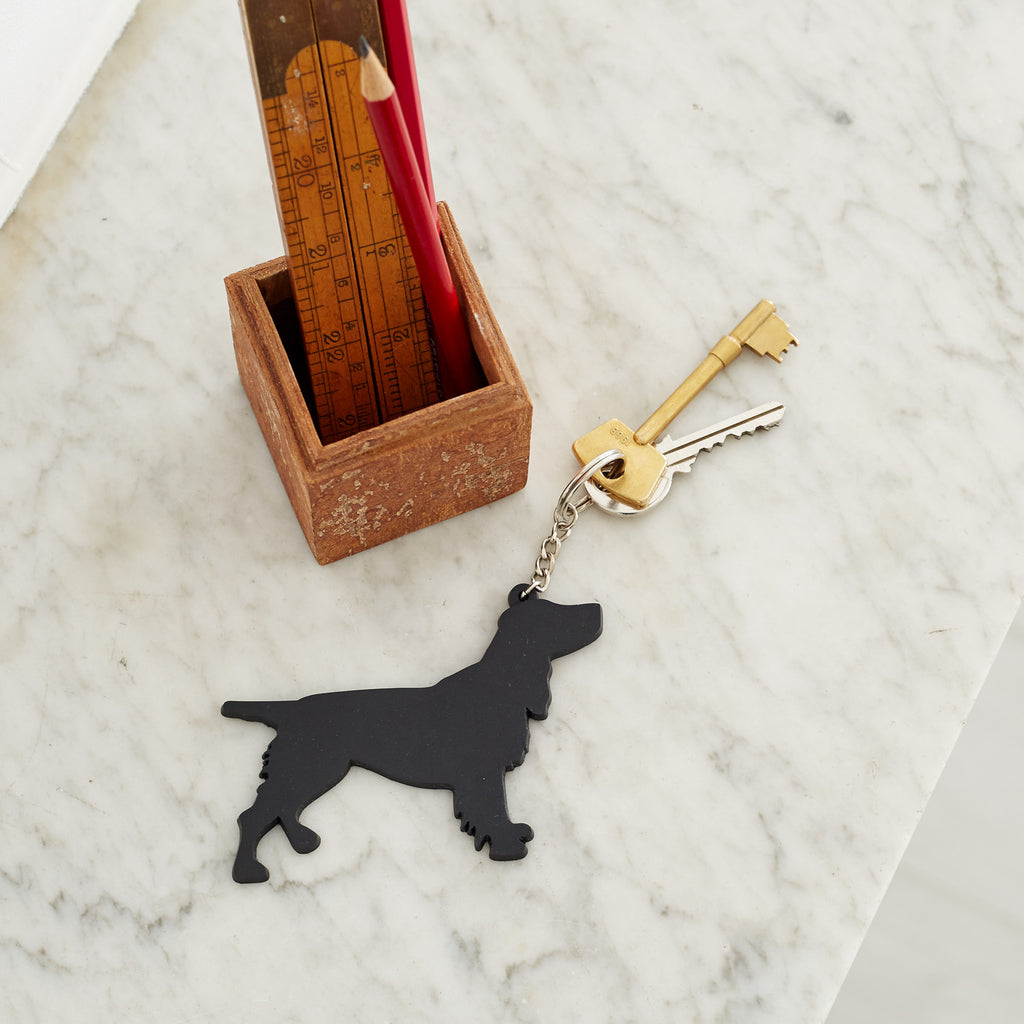 Dog themed keyring
