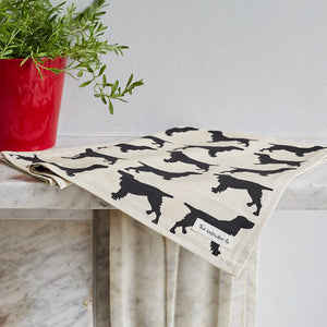 Dog printed Tea Towel