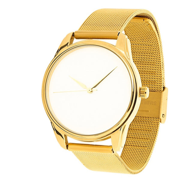 Minimalist Metal Golden Watch