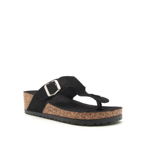 AHANA-03 BLACK STRETCH SUEDE PU