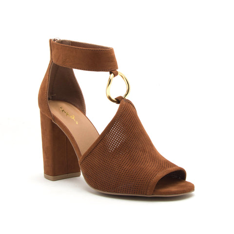 ALONA-36A CHESTNUT SUEDE PU
