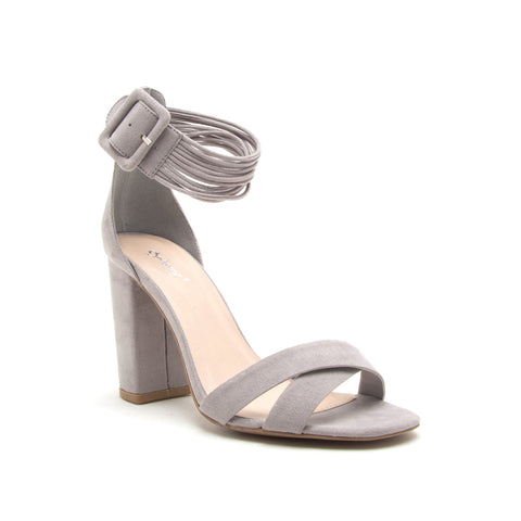 ALONA-46 LIGHT GREY SUEDE PU