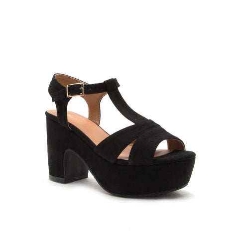 ANISSA-01 BLACK STRETCH SUEDE PU