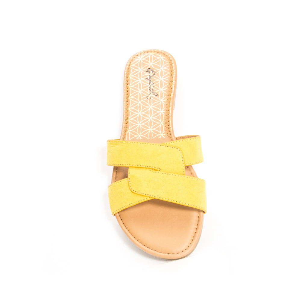 ARCHER-617X YELLOW SUEDE TOP VIEW