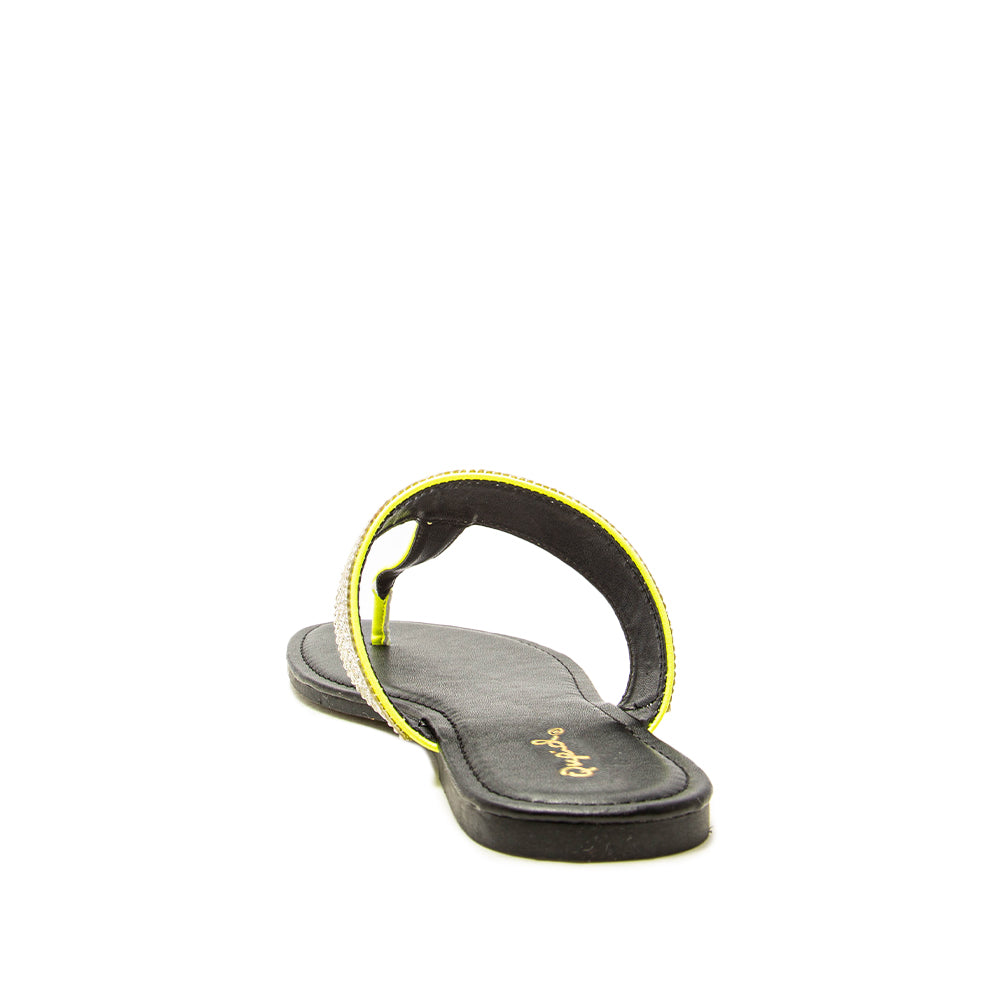 ARCHER-631 NEON YELLOW PU BACK VIEW