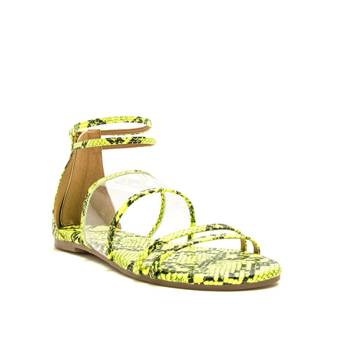 ARCHER-635X NEON YELLOW BLACK SNAKE PU