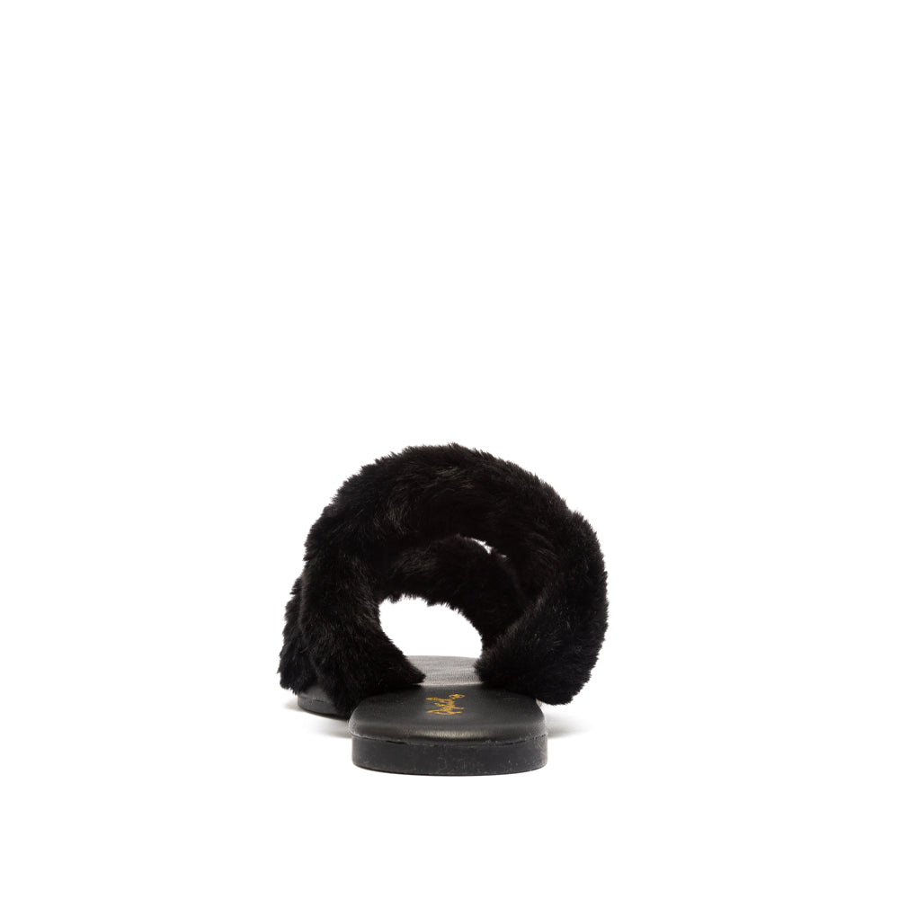 ARCHER-699X BLACK FAUX FUR BACK VIEW